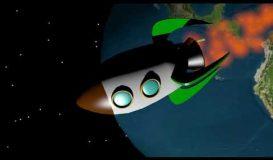 Escena espacial con musica